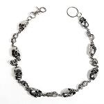 Skull Biker Keychain, Wallet Chain, Necklace