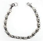 25 Inch Skull Biker Keychain, Wallet Chain, Necklace