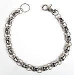 Biker Keychain, Wallet Chain, Necklace, with Skulls