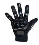 Hard Knuckle Black Motorcycle Racing Gloves